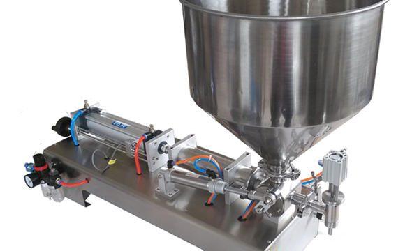 Màquina d'ompliment de mel de pot de vidre de pistó semiautomàtic