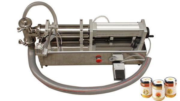 Màquina d'ompliment de mel meli líquida d'alta viscositat semi automàtica