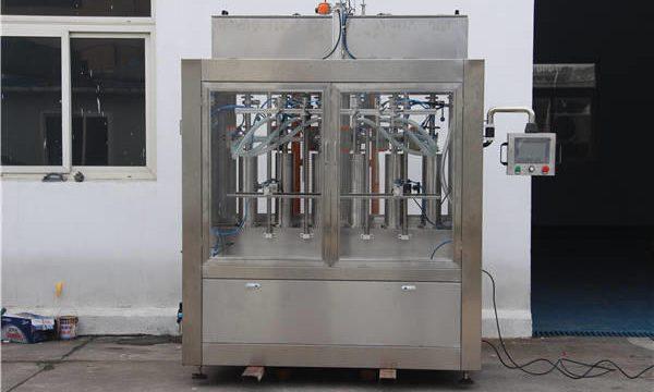 Màquina automàtica d'ompliment d'ampolles de melmelada