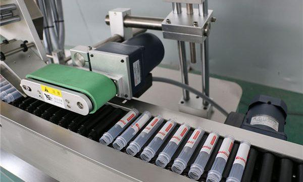 Màquina etiquetadora de vials d'injecció automàtica horitzontal