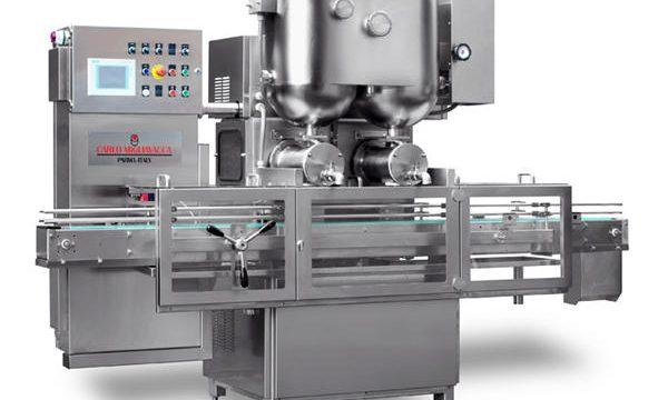 Màquina de farciment de melmelada de fruites semi-automaica de doble capçalera