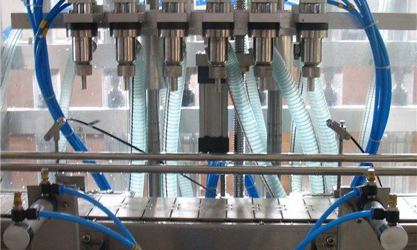 Màquina automàtica de farciment de líquids de sis capçals