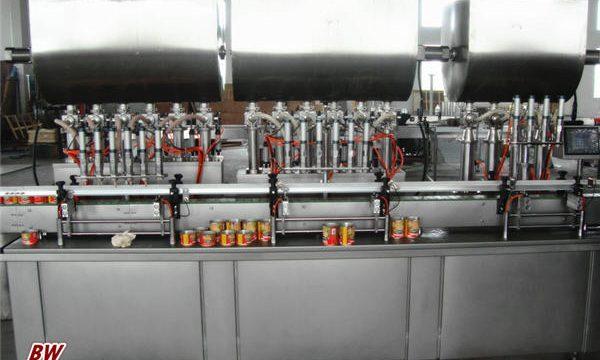 Màquina automàtica per omplir salsa de pizza calenta