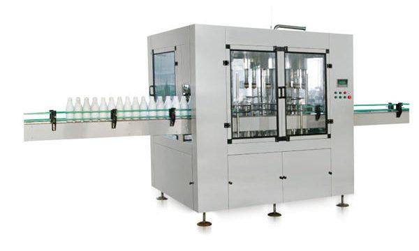 Màquina automàtica per omplir sabó líquid de pistó lineal de vuit capçals