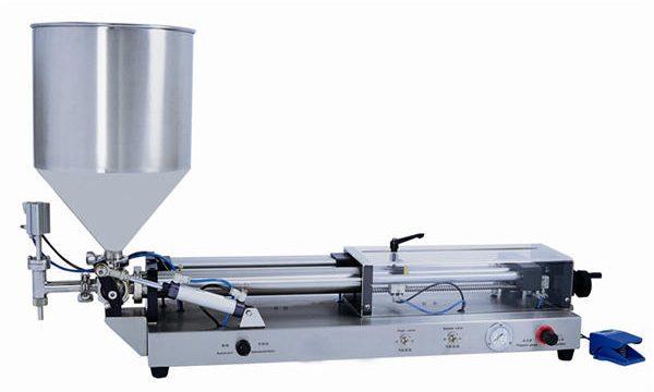 Màquina omplint de pasta semiautomàtica per a 3mL-5L