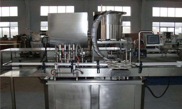 Màquina automàtica de farciment de pistons de línia recta